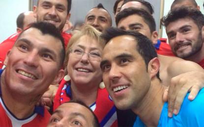 Chile vs Uruguay abren los cuartos de final y su presidentanta estara presente